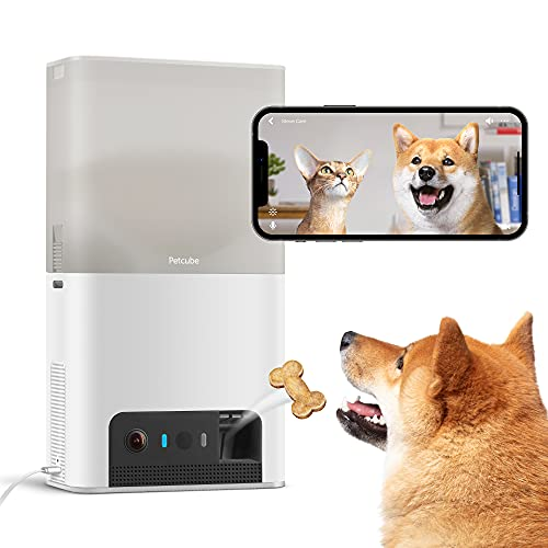 Petcube [New 2021] Bites 2 Lite Interactive WiFi Pet Monitoring Camera with Phone App and Treat Dispenser, 1080p HD Video, Night Vision, Two-Way...