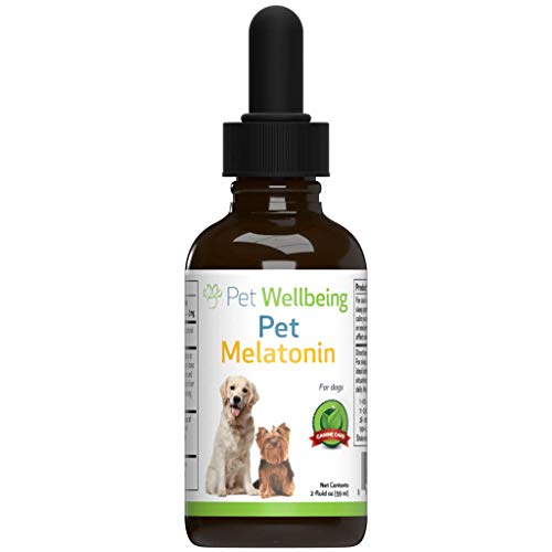 Pet Wellbeing - Pet Melatonin for Dogs - Natural Support for Relaxation & Cortisol Level Maintenance in Canines - 2oz (59ml)