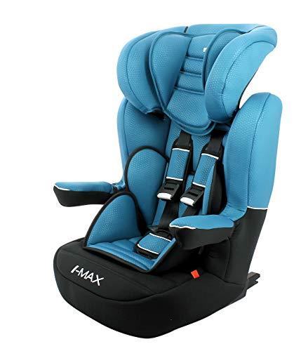 Siège auto isofix IMAX groupe 1/2/3 (9-36kg) avec protection latérale et têtière réglable - made in France - Nania Luxe bleu
