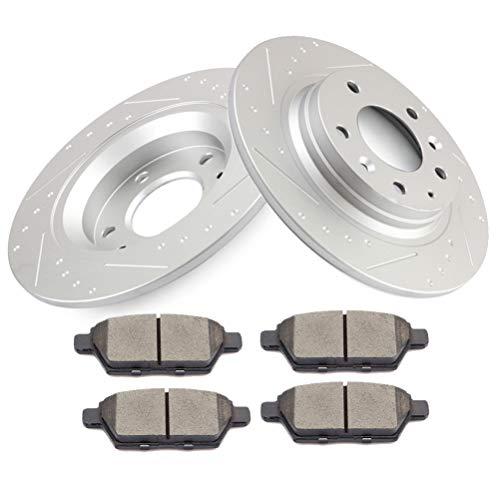 Kit de discos de freno de cerámica para discos de freno ROADFAR para Ford Fusion, 2006-2009 Lincoln MKZ,…