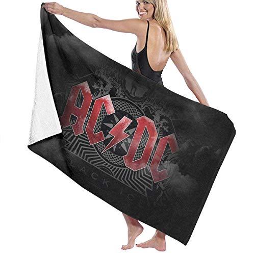 AGSIGGS AC-DC Toalla de playa de microfibra toalla de baño toalla de secado rápido manta para viajes, natación, piscina, yoga, camping, gimnasio, deporte
