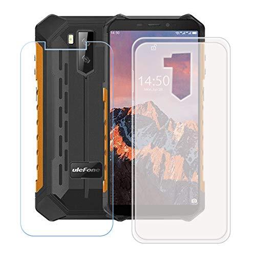 "YZKJSZ Funda para Ulefone Armor X9 Pro + Protector de Pantalla Cristal Templado Film Película,Silicona Semi-Trasparente Carcasa TPU Suave Caso Case para Ulefone Armor X9 Pro (5.5"")"