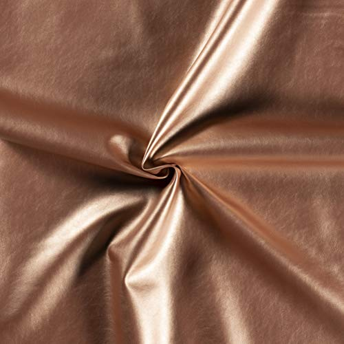 Brabant Textiel - Basic Kunstleder pro Stücke (50x70cm) - Skai Leder - Leder Imitat für Polsterung (Rosé Gold)