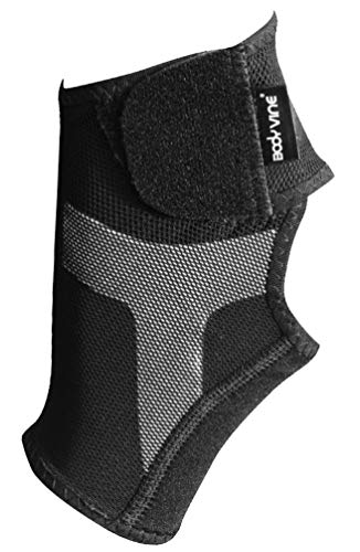 Triple-Compression Ankle Support Plus-Adjustable, Verstellbare 3-lagen Fußgelenk Bandage mit Power-Band Stabilisator Tape - grau - linker Fuß