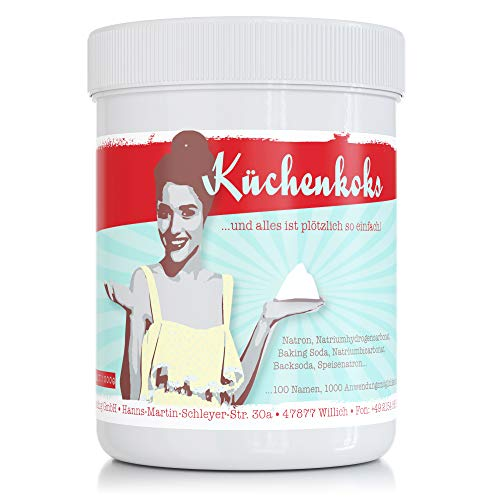 Küchenkoks 1000g (Natriumhydrogencarbonat) - für Küche, Bad, Haushalt - vielseitig einsetzbar - Natron Pulver in Lebensmittelqualität