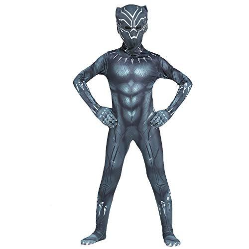 Kids Bodysuit Superhero Costumes Halloween Cosplay Costumes (Black,Kids-XS)