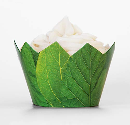 24 Leaf Cupcake Wrappers Paper Wraps Red Fox Tail