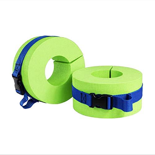 UUHUKP Puños acuáticos de espuma para natación, 2 unidades por juego de EVA, con hebilla de liberación rápida, para entrenamiento de natación y todas las actividades de deportes acuáticos