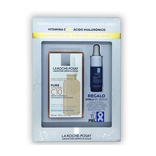 La Roche Posay Pure Vitamin C10 Sérum Antiarrugas Antioxidante Renovador, 30ml+REGALO Hyalu B5, 10ml