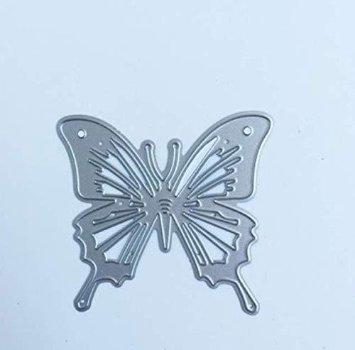 Kleurrijke Vlinder Papier Machine Snijden Sjabloon DIY Mes Model Wenskaart Album Productie Embossed Butterfly 6X6.5Cm
