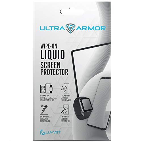 Ultra Armor Liquid Glass Screen Protector for All Smartphones Tablets and Watches Wipe On Nano Protection - Universal