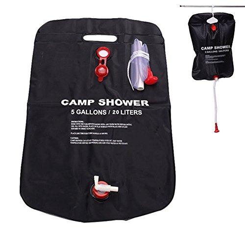 wildlead 20L solaire énergie chauffé Camp sac de douche en plein air Camping Randonnée utilitaire stockage de l'eau PVC Sacs