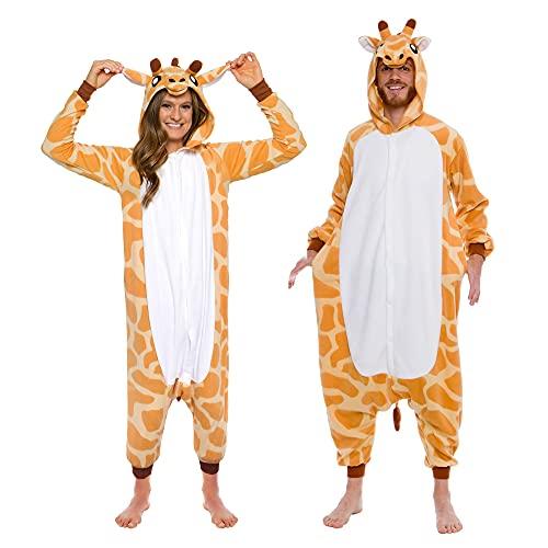 Silver Lilly Giraffe One Piece Animal Costume - Unisex Adult Plush Cosplay...