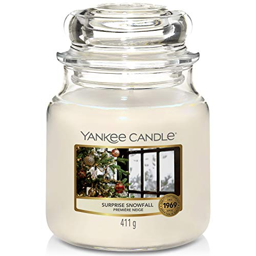 Yankee Candle candela profumata in giara media   Nevicata a Sorpresa   durata: fino a 75 ore
