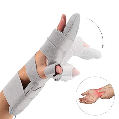 Vruping Hand Support Brace, Velvet Quality Hand Splint Points Fingerboard Rehabilitation Equipment Hand Splint Individual Care Tools (Right)
