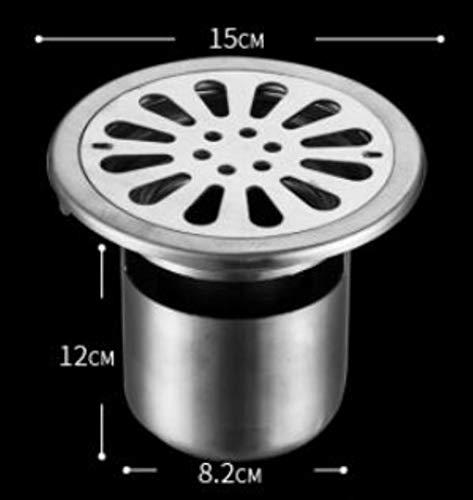 Bodenablauf Duschrinne Runder / Quadratischer Abwasserkanal Aus Rostfreiem Stahl, 304 Edelstahl, Bodenablauf, Zweifach Verwendbare Waschmaschine, Tiefe Wasserdichtung, Geruchsneutral, C-Einmalig