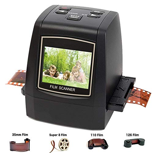 DIGITNOW Film Scanner with 22MP Converts 126KPK/135/110/Super 8 Films, Slides, Negatives All in One into Digital Photos,2.4' LCD Screen, Impressive 128MB Built-in Memory (Renewed)