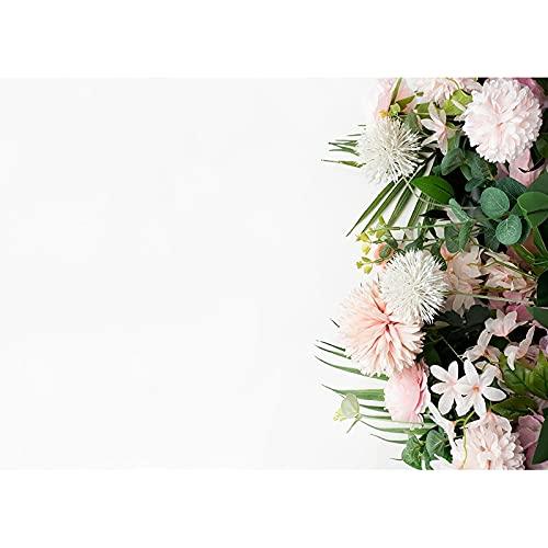 Accesorios de Fondo de fotografía de Vinilo tablón de Flores Accesorios de Fondo de Estudio fotográfico Fondo de fotografía de Boda A27 9x6ft / 2,7x1,8 m