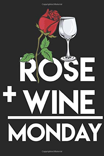 Monday - Rose and Wine - Home TV Sofa: Dot Grid Day / Journal Sketchbook Gift - ( 6 x 9 inches - approx DIN A 5 ) - 120 Pages || Softcover