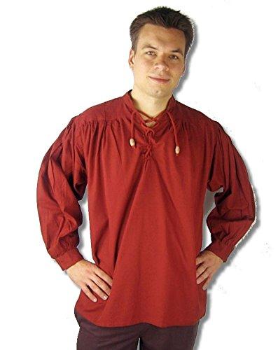 Leonardo Carbone Mittelalter Markthemd - Herren Colin S/rot