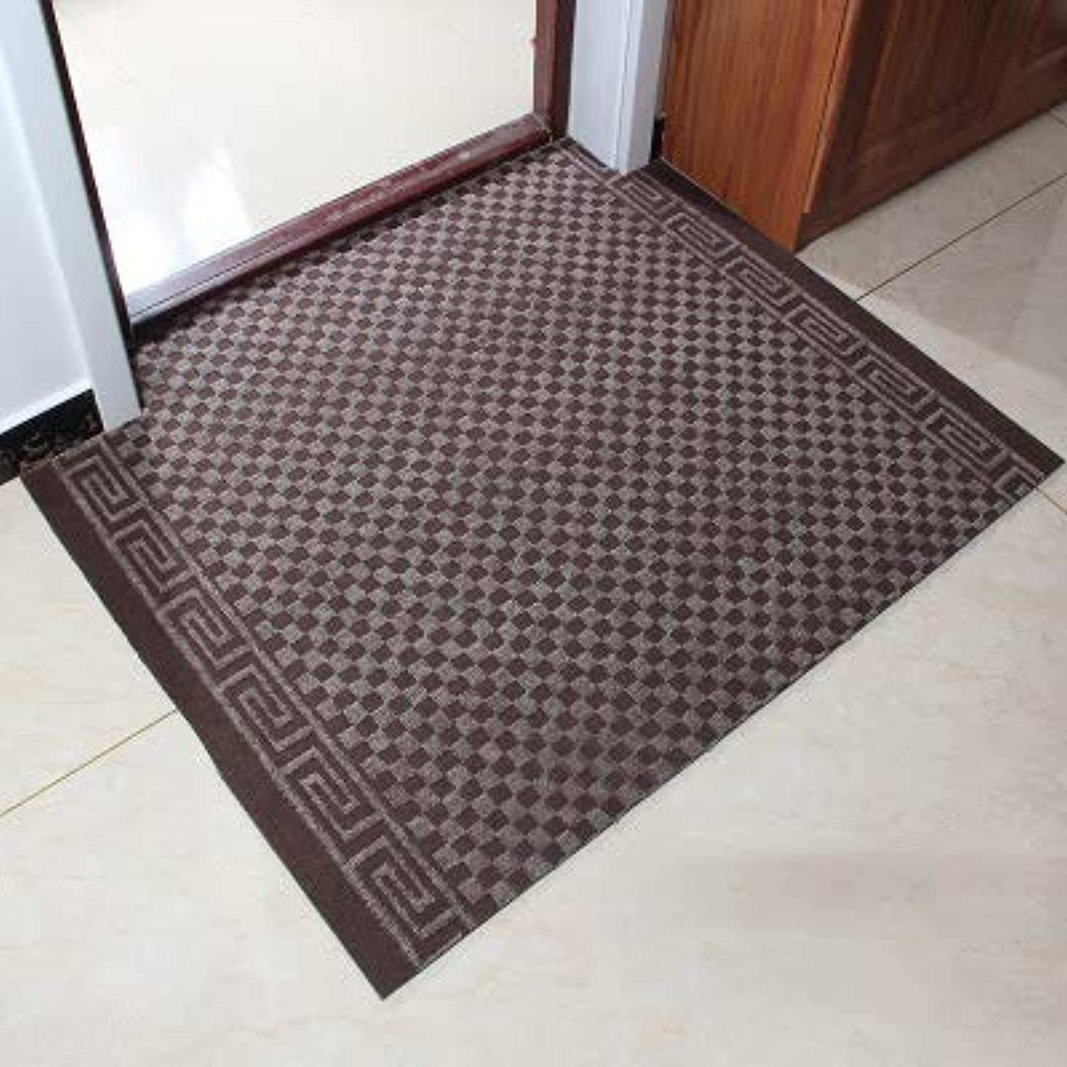 Carpet,Doormat Entrance Carpet No-Slipping mat Welcome mat Easy to Clean-Brown 90x120cm(35x47inch)