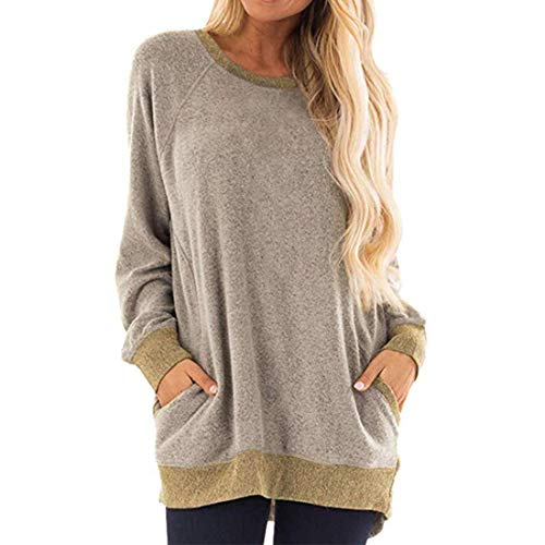 Damen T-Shirts Loose Tops Sweatshirt Langer lässiger Pullover Stilvolle Leichte Tops...