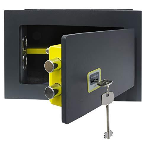 Arregui 281320 Cassaforte a Muro a Chiave,Ideal 10 mm, Grigio Scuro, 10L