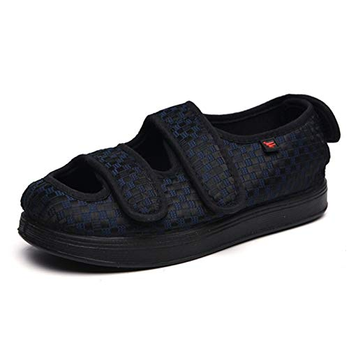 Zapatos ortopédicos diabéticos entrenadores Mujer Hombres Hallux Valgus fascitis plantar arañazos ajustable zapatillas antideslizante Edema Hinchazón Casa trabajo de las señoras en forma ampli