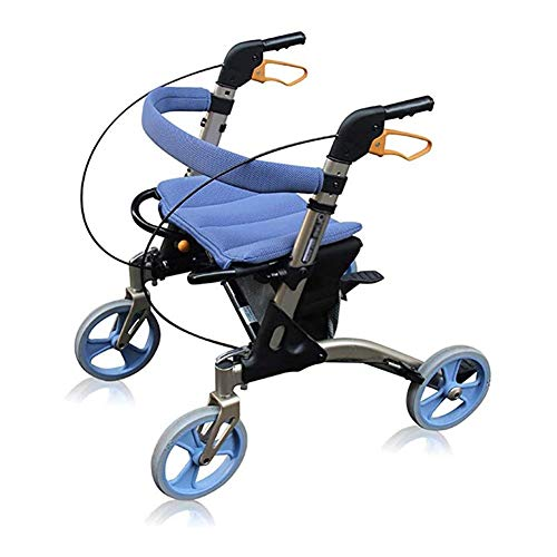 JJZXPJ Opvouwbare Rollator, Upwalker Verstelbare Hoogte Walkers Voor Senioren Met Brede Zitting En Remmen Rolling Walker Drive Walker fit Voor gehandicapten, de Ouderen, Handicap