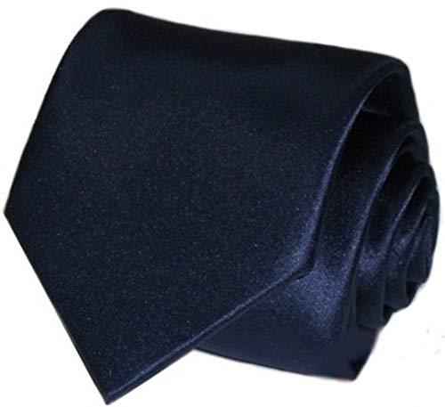 Top Tie Cravatta tinta unita personalizzata con iniziali ricamate blu rossa grigia nera (7,5 cm normale, BL921)