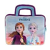 Pebble Gear Disney Frozen 2 - Funda de Neopreno Universal para niños con diseño de Frozen 2, Adecuada para Tablets de 8 a 10 Pulgadas (Fire 7 Kids Edition, Fire HD 8), Cremallera Resistente