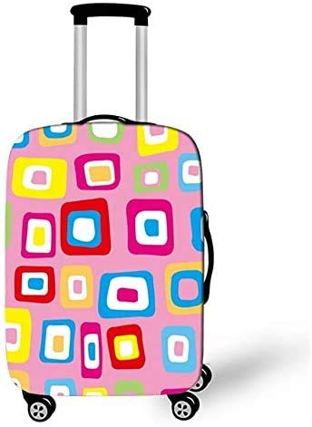 Suitcase Cover Cute Plaid Design Travel Trolley Case Cover 29-32Inch Protector Suitcase Cover Trolley Case Luggage Storage Covers Size XL