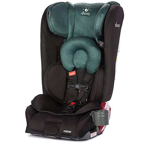 Diono Rainier All-in-One Convertible Car Seat, from Birth to 120 Pounds, Black Forest (Discontinued)