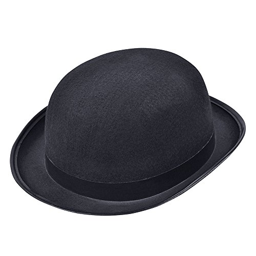Bristol Novelty BH173 Bowler Hat black, One Siz