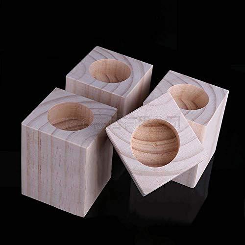 FCXBQ 4 * Original Holz Tischbein Matte - Hochbett Matte Holzblock Stützfuß - Massivholz Sofa Matte Bett Beine Beine Erhöhte Möbel Stützfüße ^ ^
