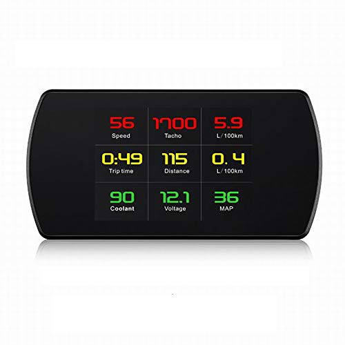 "VJOYCAR 4.3"" Universal GPS Speedometer Car HUD Head Up Display with Vehicle Speed MPH Odometer Engine RPM Coolant Automotive Computer OBD2 Scan Tool Faulty Code Reader"