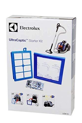 Electrolux USK10 Starter-Kit (Vorteil-Set, 1 Motorfilter, 1 Allergy Plus Filter, waschbar, 4er Pack s-fresh Duftgranulat Zitrusfrüchte, verbesserte Saugleistung, passgenau, weiß/blau)