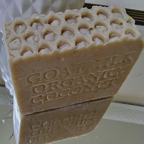 Natural Goat's Milk and Organic Coconut Milk (Bar Soap)-Fragrance Free Handmade