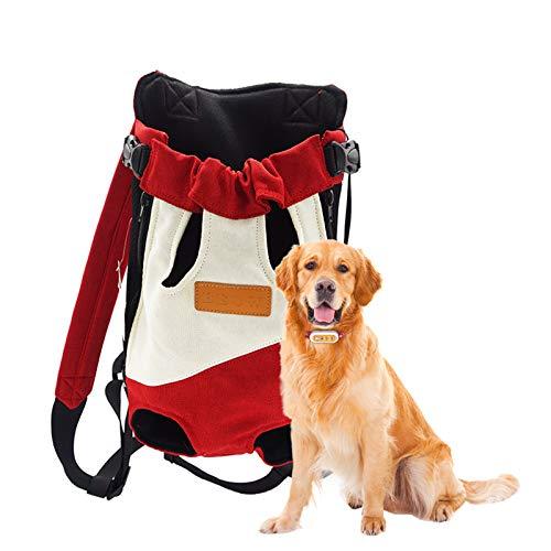 Danaba Bolsa de viaje portátil de dos hombros para mascotas Mochila de cuatro esquinas Bolsa de pecho para mascotas Bolsa de gato Bolsa de perro Adecuado para perros pequeños y medianos (S)