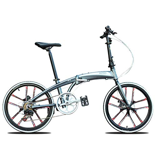 Jieer Bicicleta Montaña Adulto, Bicicleta Plegable, Bicicle