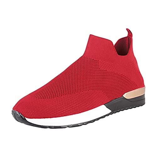 Zapatillas de senderismo para mujer, deportivas, informales, de malla, resistentes al desgaste, antideslizantes, muy ligeras y transpirables, para el ocio diario, al aire libre, deportes