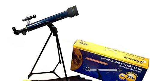 Levenhuk Strike 50 ng telescoop achromatische refractor 50 mm oud-Azimuth-montage met uitgebreide accessoireset