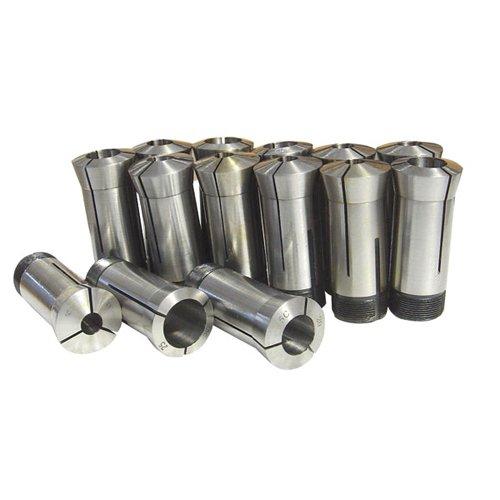 TTC MCS4014 14 Pc 12mm-25mm x 1mm 5C Round Metric Collet Set