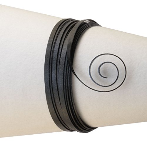Vaessen Creative 24244-015 aluminium draad reliëf platte sieraden 5 x 1 mm x 5 m, buigzaam sierdraad, aluminium, zwart, 500 x 0,5 x 0,1 cm