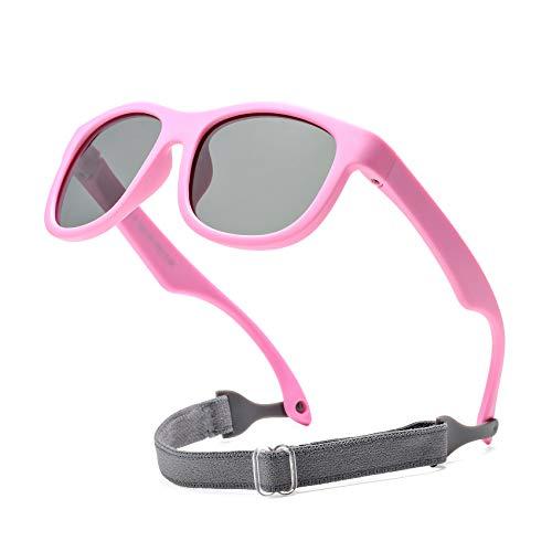 COASION Gafas de sol polarizadas flexibles con correa ajustable para bebé recién nacido de 0 a 24 meses
