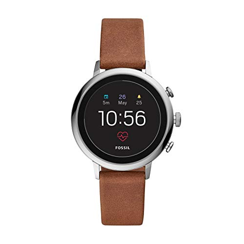 Fossil Damen Digital Smart Watch Armbanduhr mit Leder Armband FTW6014