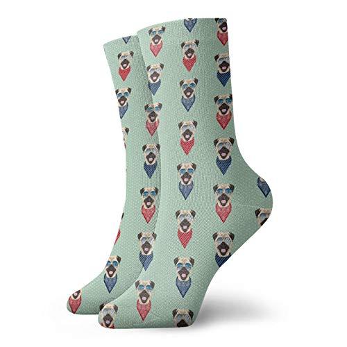 Socken mit Mops-Motiv, unisex, kurze Socken, feuchtigkeitsableitend, Freizeit-Socken, die beste Wahl