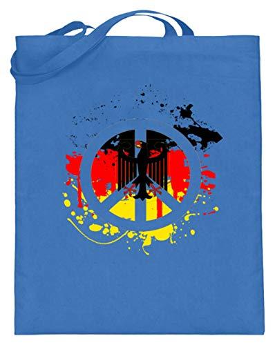 Deutschland Peace Frieden Bundesadler Flagge Fahne - Schlichtes Und Witziges Design - Jutebeutel (mit langen Henkeln)