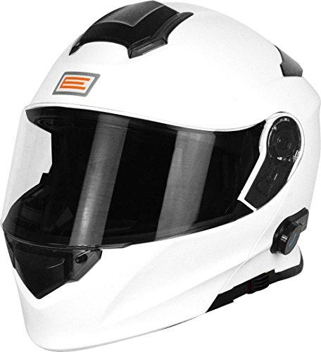 Origine Helmets 204271718100005 Delta Solid Casco Apribile con Bluetooth Integrato, Bianco, L