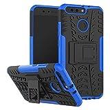 pour Huawei Honor V9 / V8 Pro, béquille d'armure hybride double couche Hyun Pattern 2 en 1 housse...
